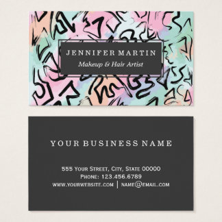 Abstract Modern Graffiti Watercolor Brushstrokes Business Card