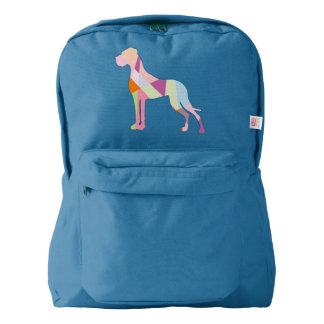 Abstract modern Great Dane Backpack