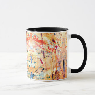 Abstract Modern Hand-Painted Mug