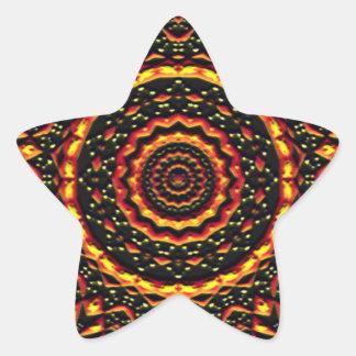 abstract modern pattern star sticker