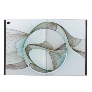 Abstract Modern Turquoise Brown Gold Elegance Powis iPad Air 2 Case