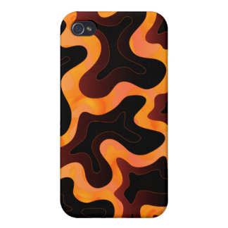 Abstract Molten Lava iPhone 4 Case