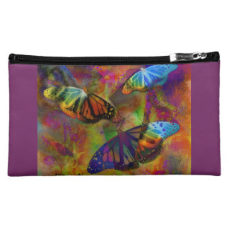 Abstract Monarch Butterfly Cosmetic Bag