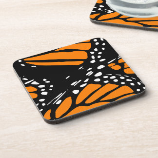 Abstract Monarch Butterfly Design Drink Coaster