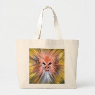 Abstract monkey painting jumbo tote bag