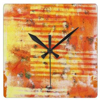Abstract Monoprint 17025YOS Clock