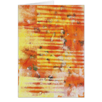 Abstract Monoprint 17025YOS Greeting Card