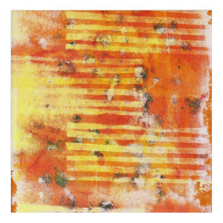Abstract Monoprint 17025YOS Print Acrylic Print