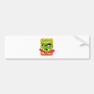 Abstract Monster Bumper Sticker