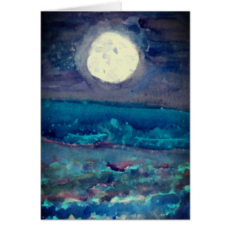 Abstract Moon Art Blank Card