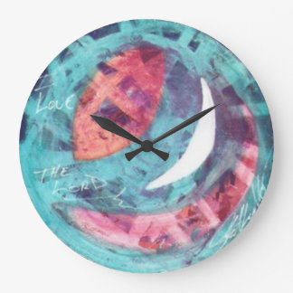 ABSTRACT MOON RELIGIOUS LARGE WALL CLOCK