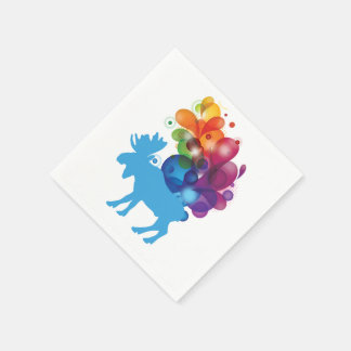 Abstract Moose Paper Napkins