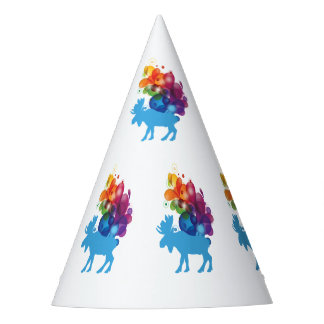 Abstract Moose Party Hat