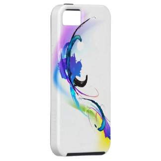 Abstract Morning Glory Paint Splatters Case For The iPhone 5
