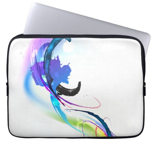 Abstract Morning Glory Paint Splatters Computer Sleeves