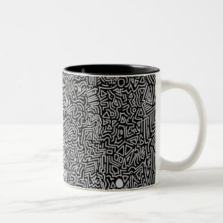 Abstract Mornings Two-Tone Coffee Mug