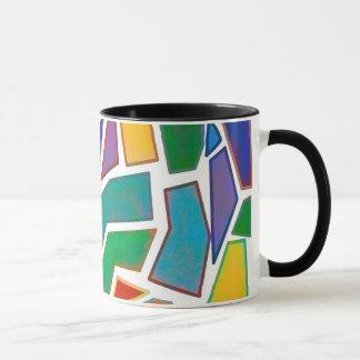 Abstract Mosaic Art Multi Color Design Pattern Mug