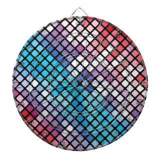 Abstract Mosaic Background Dartboard