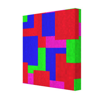 Abstract Mosaic Coloured Blocks, Canvas Print