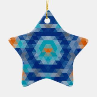Abstract Mosaic Design Ceramic Ornament