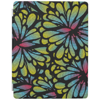 Abstract Mosaic Flowers iPad Cover