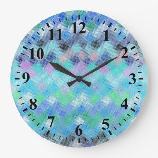 Abstract Mosaic Glass Pattern #3 Clock