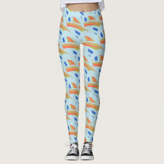Abstract Mosaic Pattern Leggings