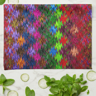 Abstract Mosaic Wave Pattern #7 Tea Towel