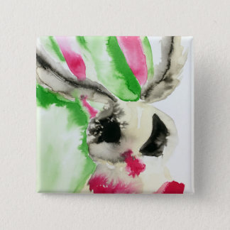 Abstract Moth 15 Cm Square Badge