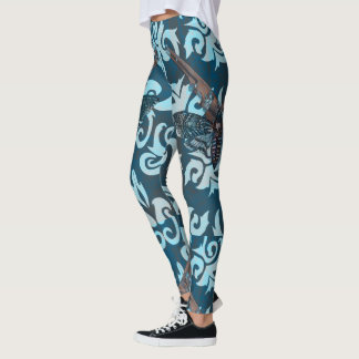 Abstract Moth Leggings