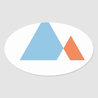 Abstract Mountains Sticker