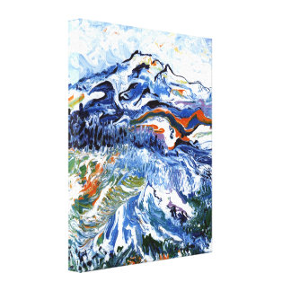 Abstract Mt Rainier Canvas Print