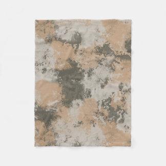 Abstract Mud Puddle Fleece Blanket