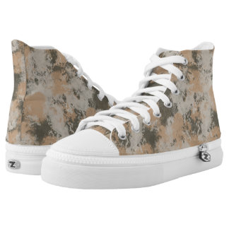 Abstract Mud Puddle High Tops