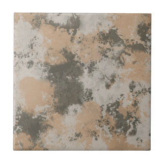 Abstract Mud Puddle Small Square Tile