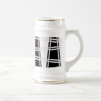 abstract 18 oz beer stein