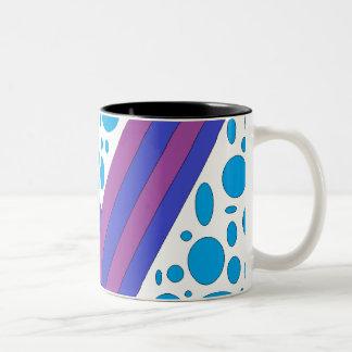 Abstract mug blue