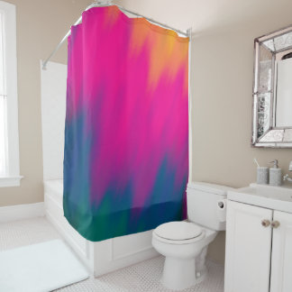 Abstract Multi Color Background Shower Curtain