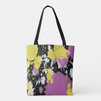 Abstract Multi-Colored Tote
