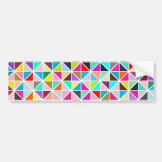 Abstract Multicolor kaleidoscope Diamond Pattern Bumper Sticker