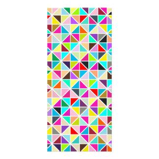 Abstract Multicolor Kaleidoscope Diamond Pattern Custom Rack Cards