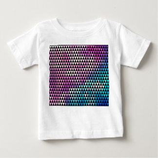 Abstract multicolor nebula triangles pattern baby T-Shirt