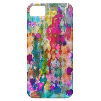Abstract multicolored colorful argyle cell case iPhone 5/5S cover