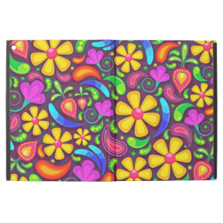 "Abstract Multicolored Floral Pattern iPad Pro 12.9"" Case"