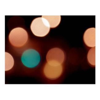 Abstract Multicolored Polka-dot Bokeh Postcard