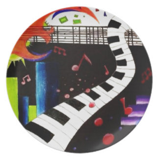Abstract Music 2013 Dinner Plate