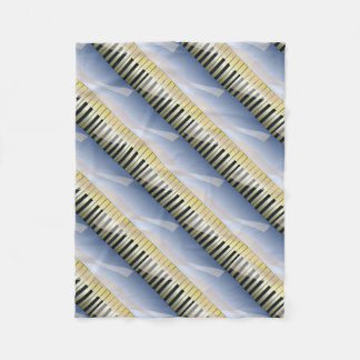 Abstract Music Background Fleece Blanket