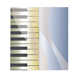 Abstract Music Background Notepad