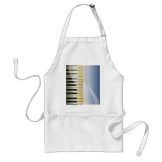 Abstract Music Background Standard Apron