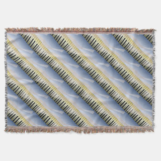 Abstract Music Background Throw Blanket